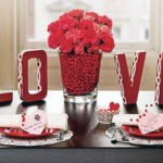 3D Love and Flower Valentine Decor Ideas