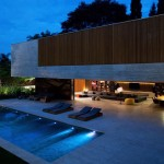 Amazing House Pool Lighting Night Ideas