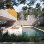 Backyard with Modern Pool Design