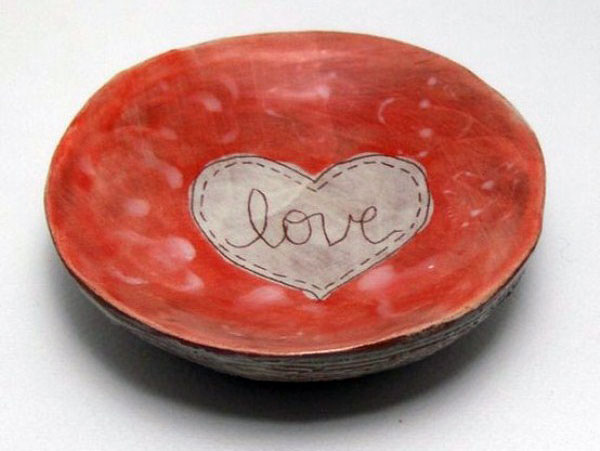 Beautiful Red Plate for Valentine Day
