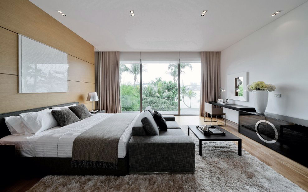 Black white neutral bedroom design ideas interior design for Black and beige bedroom ideas
