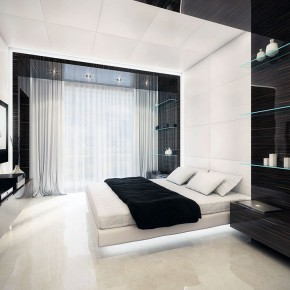 Black and White Bed Interior Design