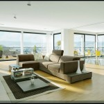 Bright Living Room with Large Glass Wall