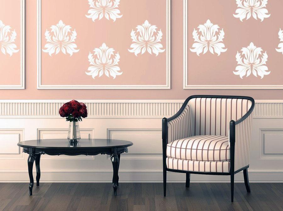 Classic fleur de lis wall stickers ideas interior design Fleur de lis wall