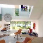 Colorful Retro Dining Room Design