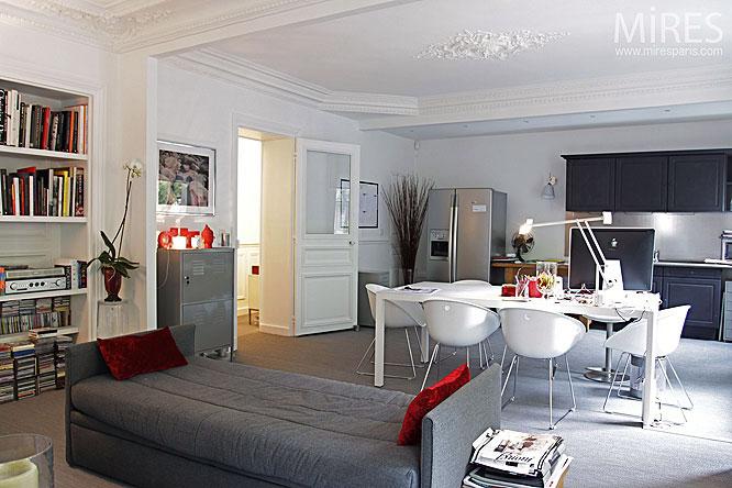 Dining Room Living Room In One Space Apartment Interior Design Ideas