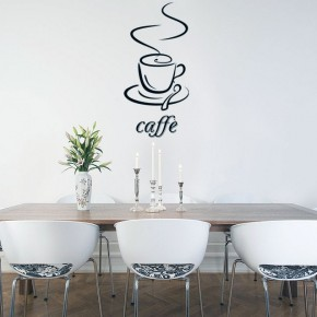 Dinnig Room with Caffe Vinyl Wall Decal Ideas