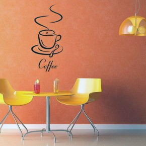 Enjoyed Room with Coffee Vinyl Wall Decal
