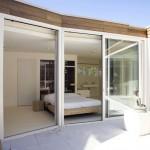 Glass Wall Bedroom with Aluminium Sills