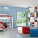 Kids Bedroom with Bunkbeds and Comic Book Storage