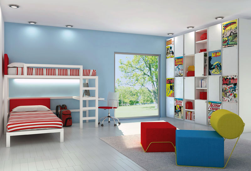 Awesome poster print kids rooms bedroom design ideas for Comic book bedroom ideas