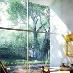 Large Glass Window with Garden Views