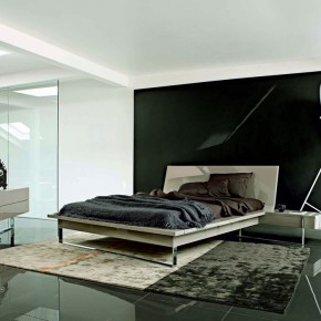Minimalist White Black Bedroom Design