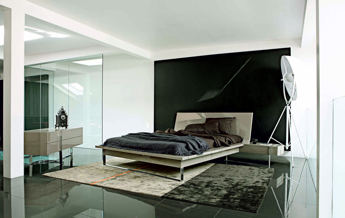 Minimalist white black bedroom design interior design ideas for Minimalist black and white bedroom