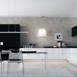 Modern Black White Kitchen Cabinet