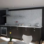 Modern Black Kitchen Marble Back Splash