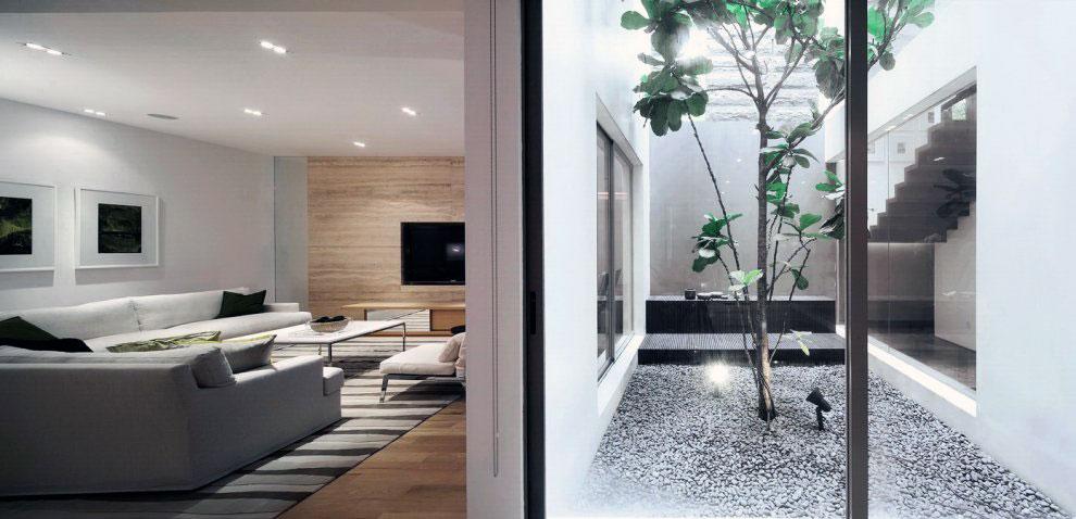 Modern Courtyard Lightwell Decor