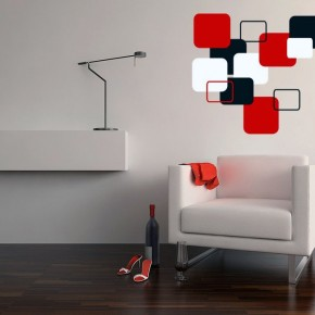Modern Cubist Wall Decals Design