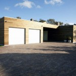 Modern Double Garage with Electric Rolling Door