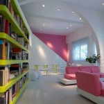 Modern Gloss Color Bookcase Design