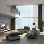 Modern Grey White Lounge Mezzanine House