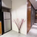 Modern Hallway with Back Wall Slate Tile Decor