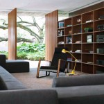 Modern Interiors Living Room With Bookshelves