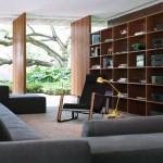 Modern Interiors Living Room With Bookshelves