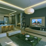 Modern Living Room Apartment with Mini Bar