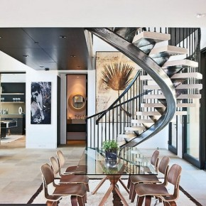 Modern Stainless Spiral Staircases Design