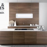 Modern Walnut Kitchen Cabinets Design