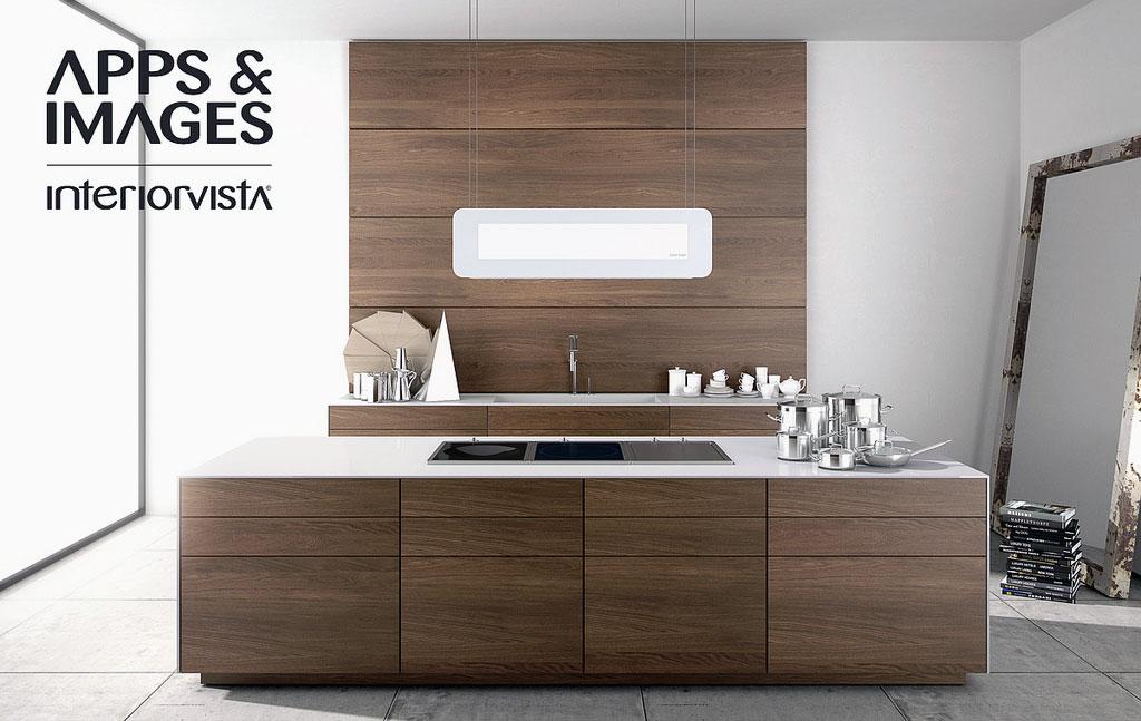 Modern Walnut Kitchen Cabinets Design
