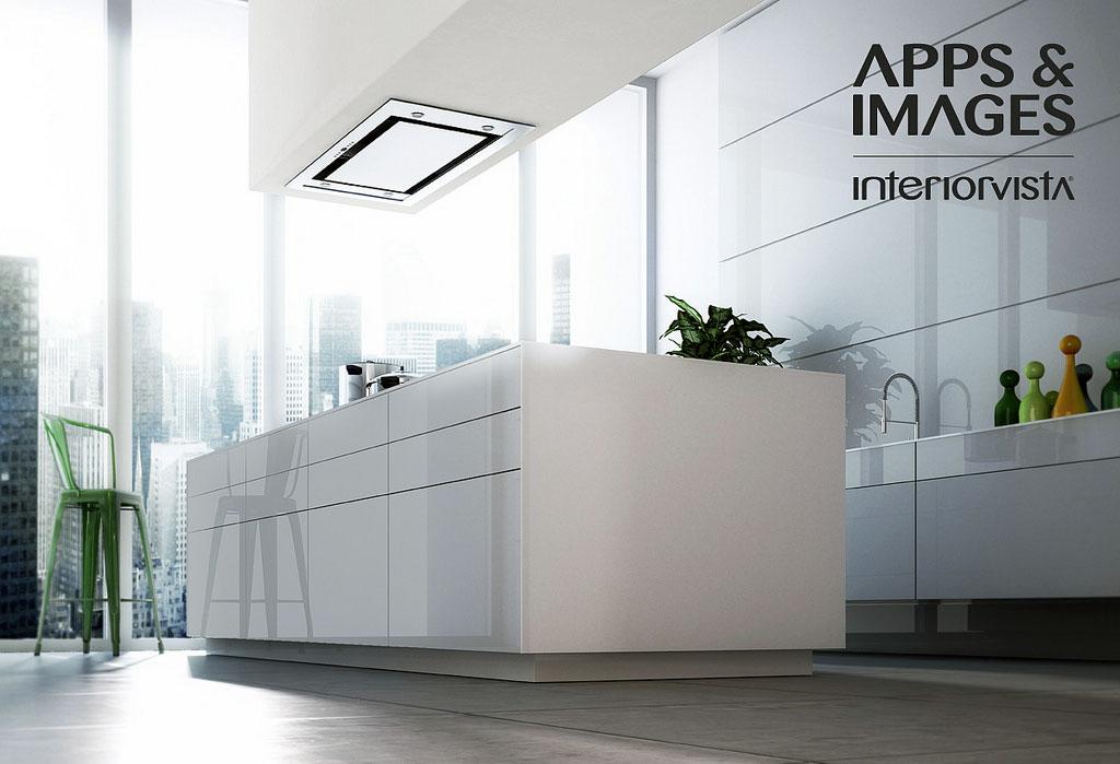 Modern White Kitchen Furniture Set