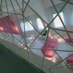 Net Wall Mezzanine House Design