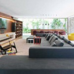 Open Living Room Design Grey Sofas