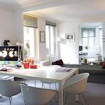 Open Living Room Design with Mac Desk Ideas