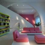 Pink White Lounge Design Ideas