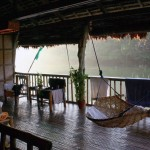 Rattan Swing in the Deck Lake Labasin View