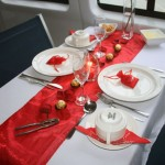 Romantic Valentine White Red Table Decor Ideas