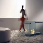 Screen Dual Aspect Glass Fireplace Design