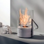 Secel Mini Glass Bucket Fireplace Design