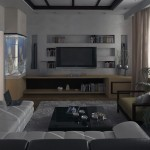 Small White Beige Living Room Design
