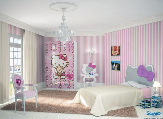 Soft Pink Hello Kitty Theme Room