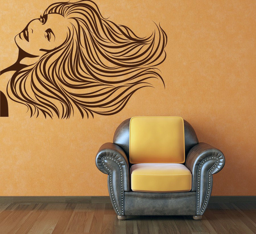 Vintage Woman Image Wall Decal Ideas