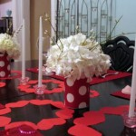 White Flower Decor for Valentine Day