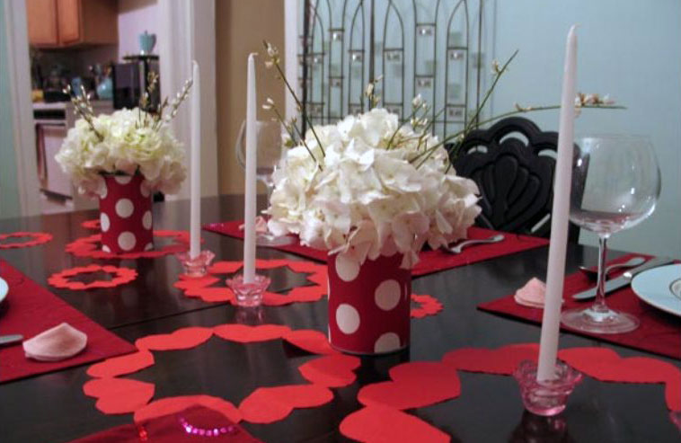 Valentine decoration ideas table