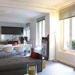 White Grey Color Scheme Living Room