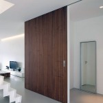 A Nut Wood Sliding Door Apartment