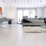 Barcelona Chairs in Loft Living Room Design