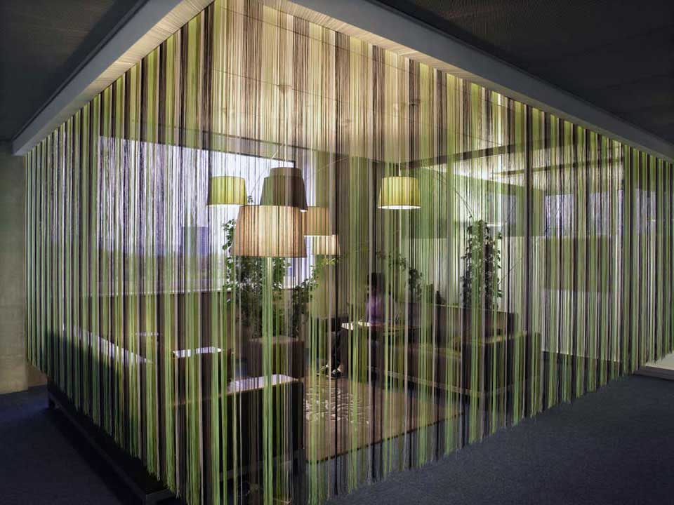 Beautiful Informal Meeting Room with Around Curtains